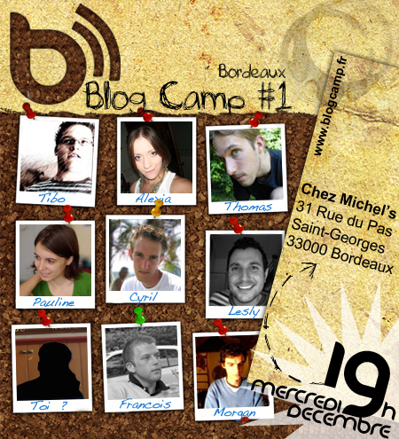 Affiche BlogCamp Bordeaux #1